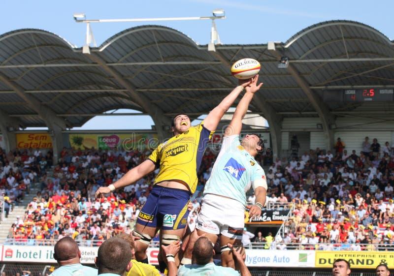 Rugbyabgleichung USAP der Oberseite 14 gegen ASM lizenzfreies stockbild