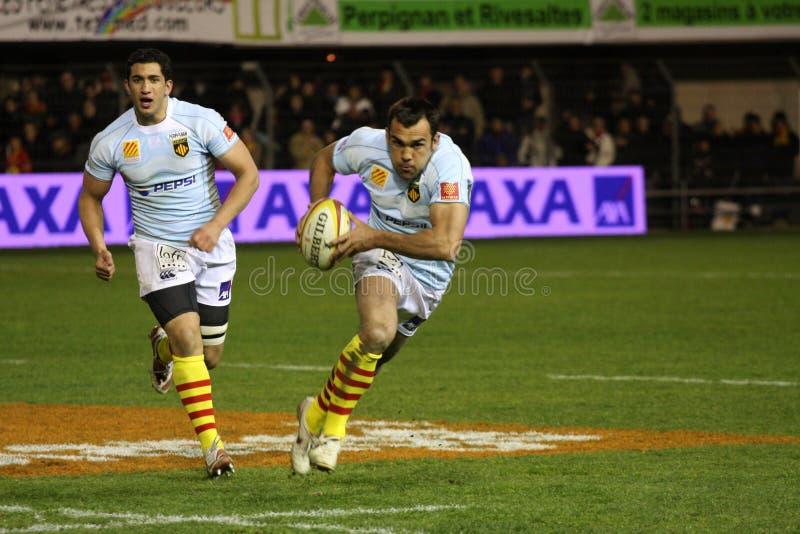 Rugbyabgleichung USAP der Oberseite 14 gegen Toulouse lizenzfreie stockbilder