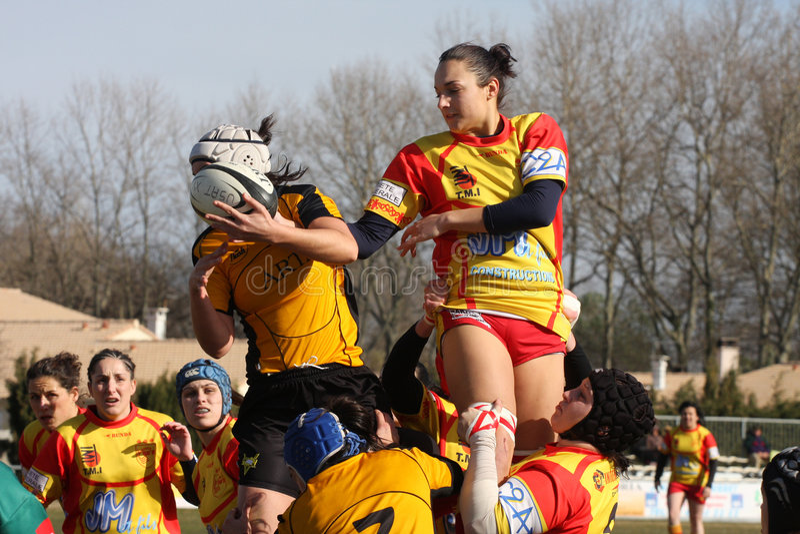 Rugbyabgleichung USAT (Frankreich) v GETXO (Spai stockfotografie
