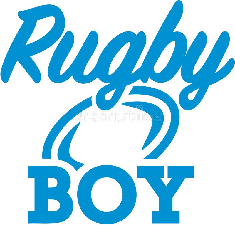 Rugbyjunge lizenzfreie abbildung