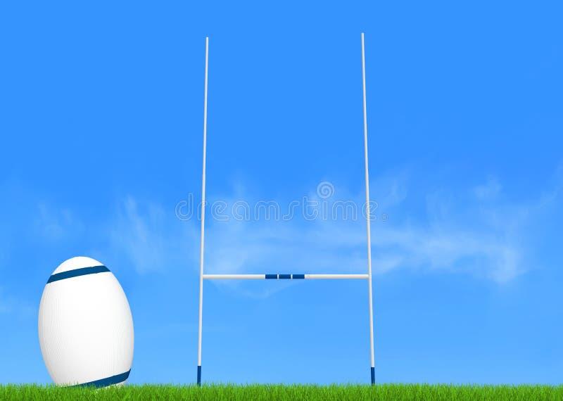 Rugbykonvertierung lizenzfreie abbildung