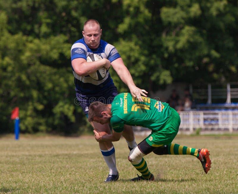 Rugbymatch Dynamo - Zelenograd stockfotos