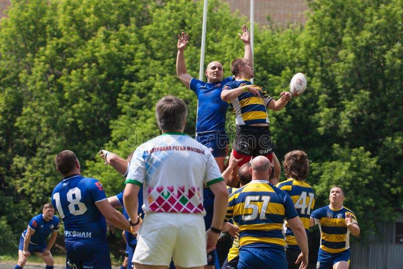 Rugbymatch Fili - VVA stockbilder