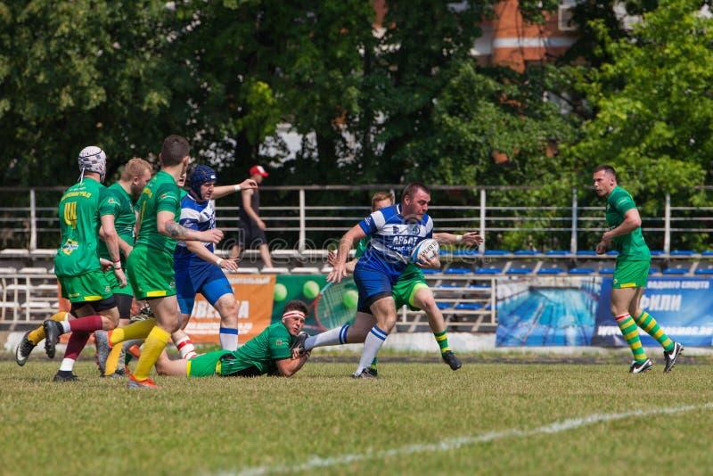 Rugbymatchdynamo - Zelenograd arkivbild