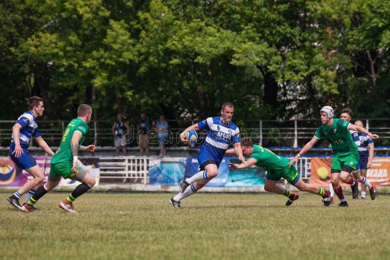 Rugbymatchdynamo - Zelenograd arkivbilder