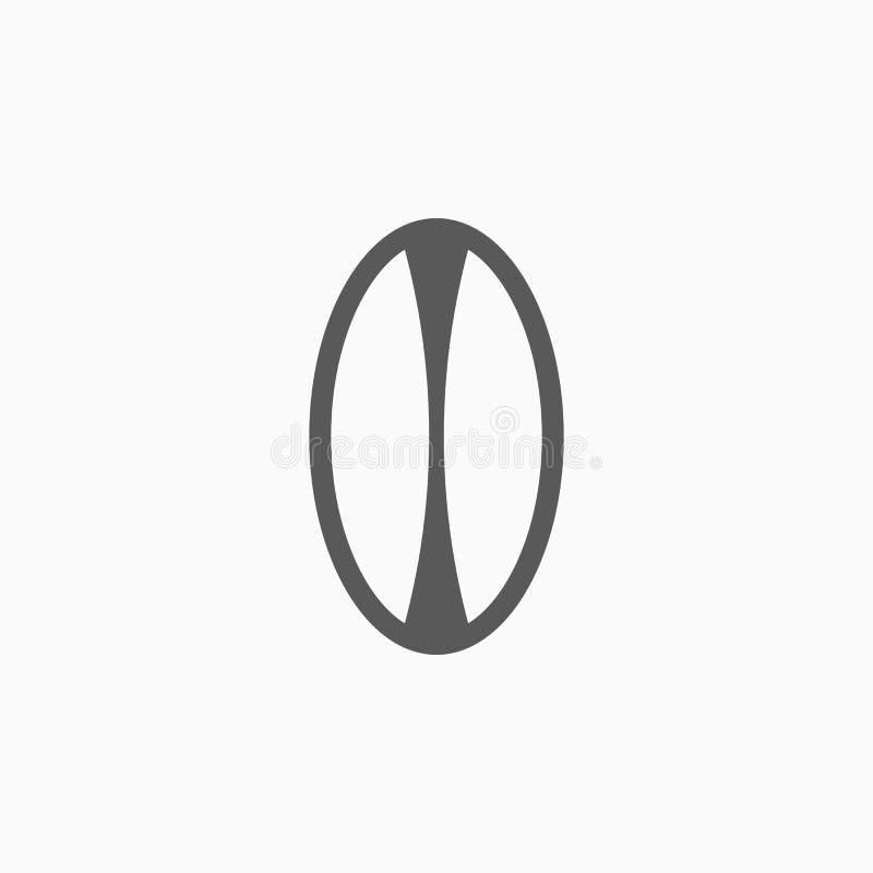 Rugbysymbol, boll, lek, sport stock illustrationer