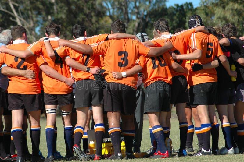 Rugbyteamspiritus lizenzfreie stockbilder