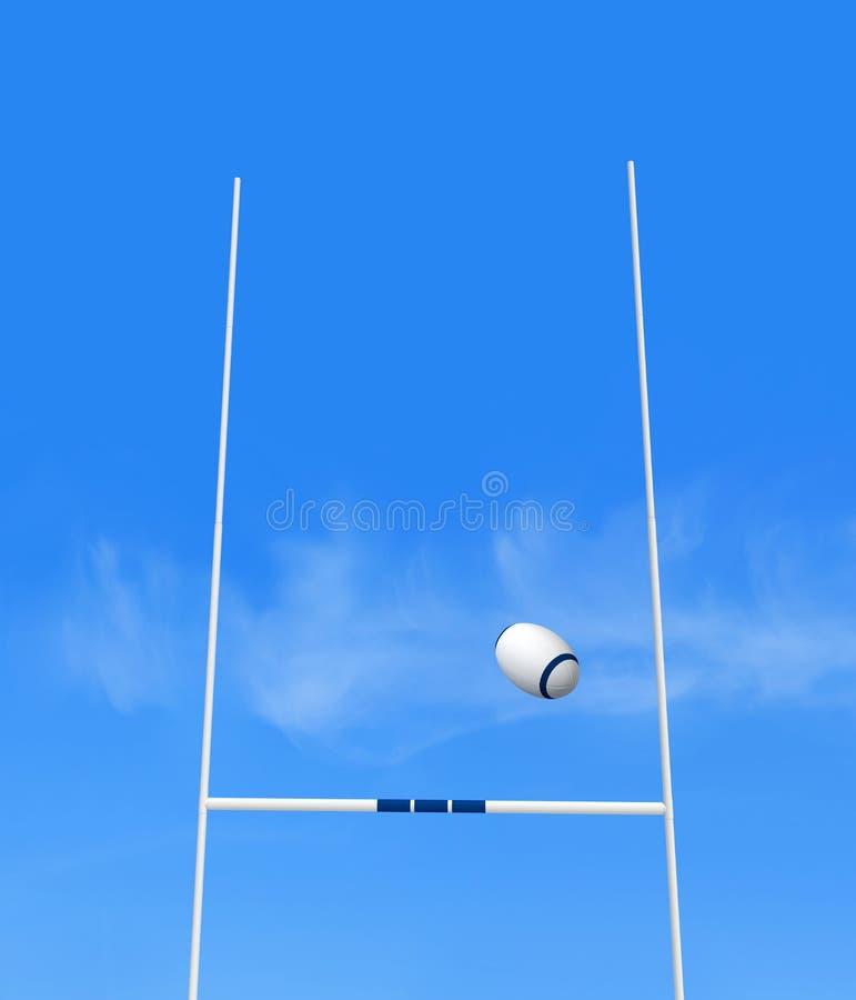 Rugbyziel vektor abbildung