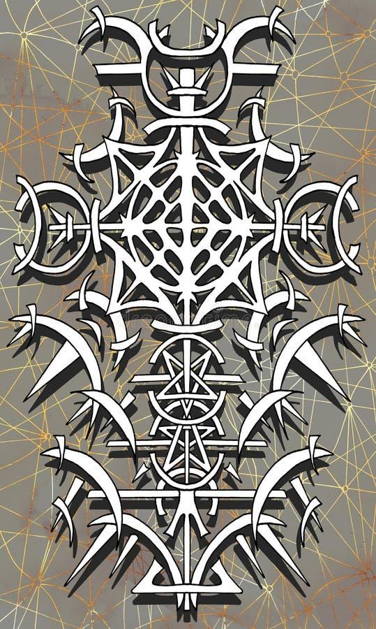 Rugdekkingsontwerp van tarotkaart 13 stock illustratie
