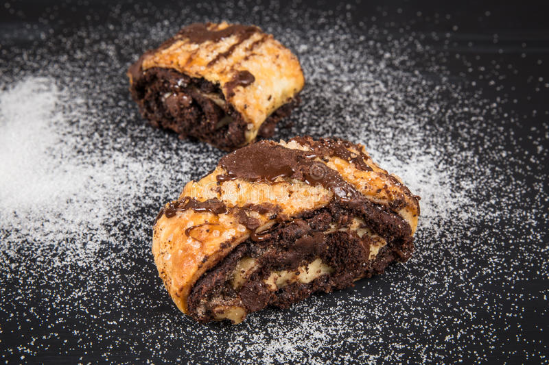 Rugelach do chocolate fotos de stock royalty free