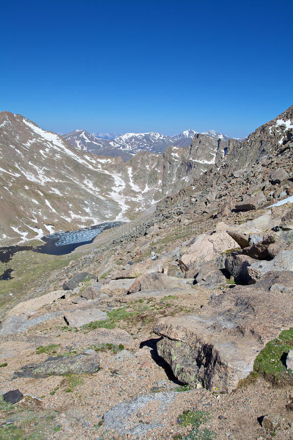 Download Rugged Alpine Vista stock image. Image of snow, colorful - 31857009