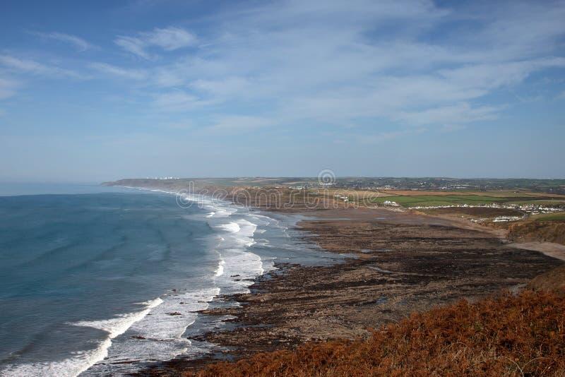 A Rugged Beach In Cornwall Stock Photo