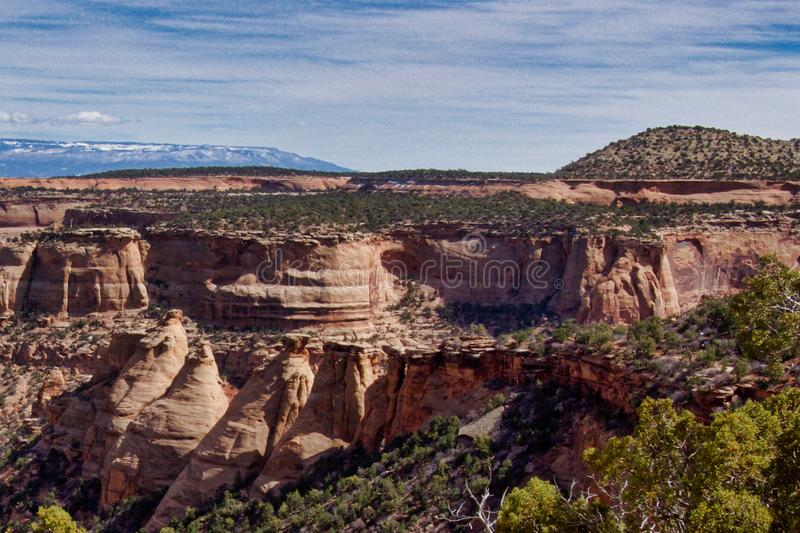 Rugged Canyons of Western Colorado stock photography
