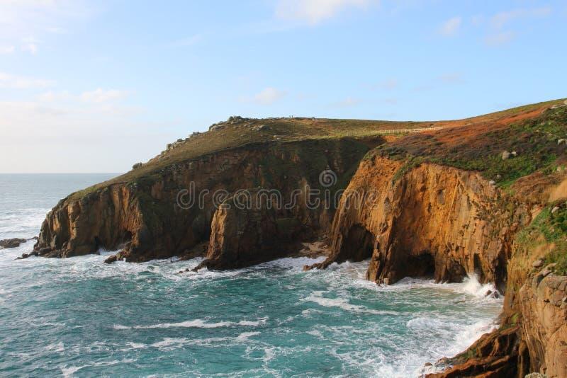 Rugged Coast Cornwall, England stock photography