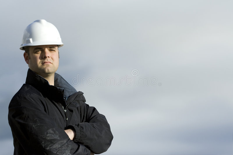 Rugged Construction Worker stock photo