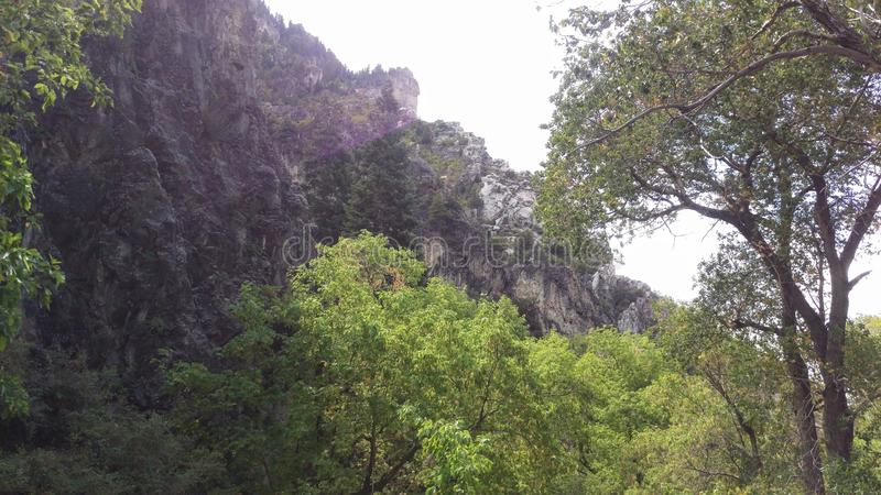 Craggy Cliffs in Rock Canyon stock photography