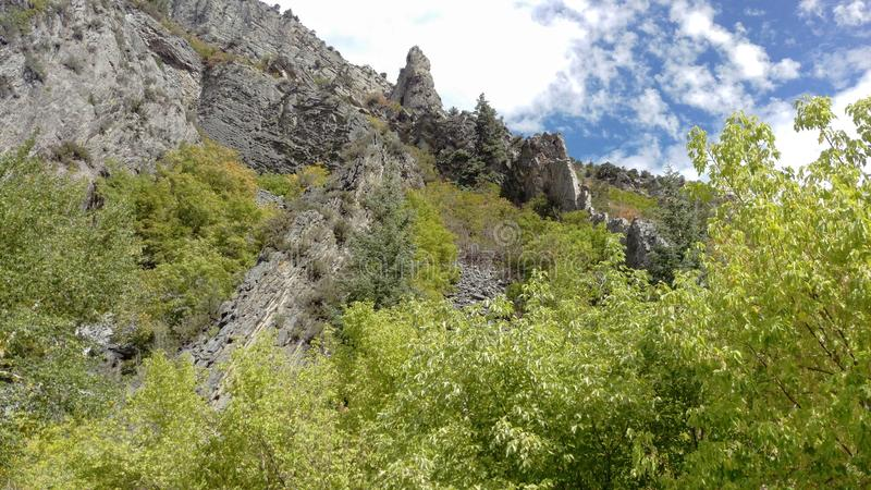 Craggy Outcrops in Rock Canyon royalty free stock photography