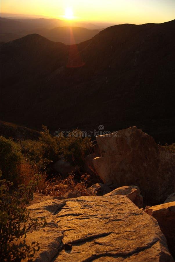 Rugged Desert Sunrise stock photography