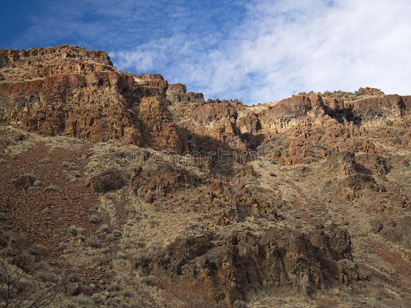Rugged geology royalty free stock photos