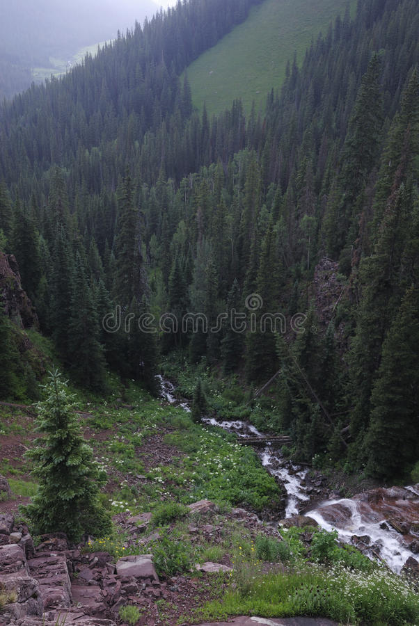 Rugged landscape in San Juan Mountains in Colorado stock photo