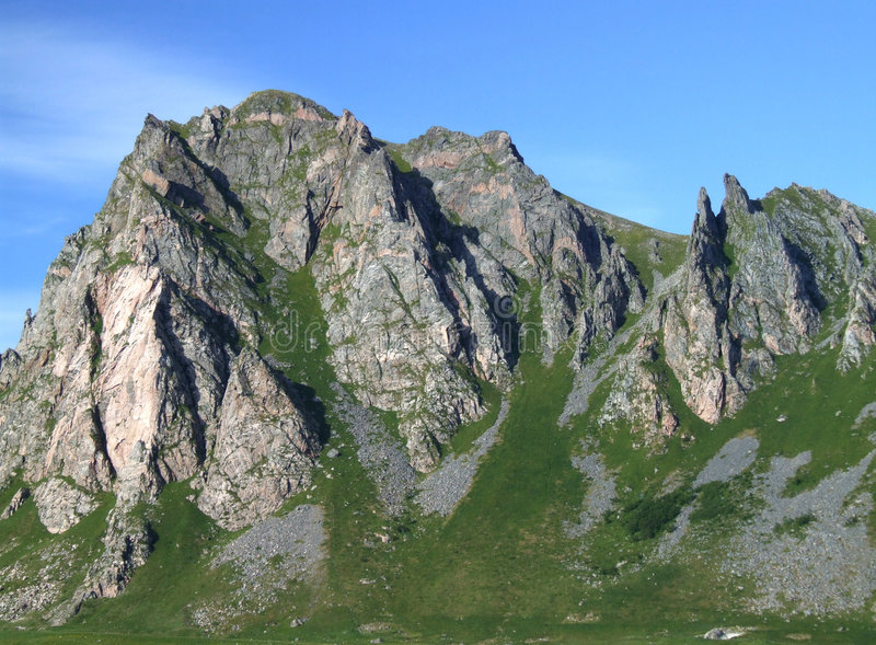Rugged mountains stock photography
