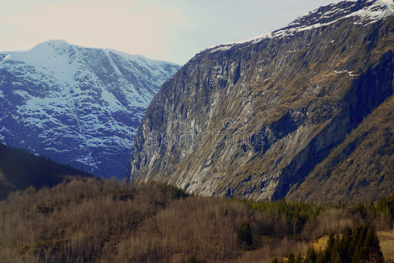 Download Rugged Norwegian mountains stock image. Image of nature - 2462257