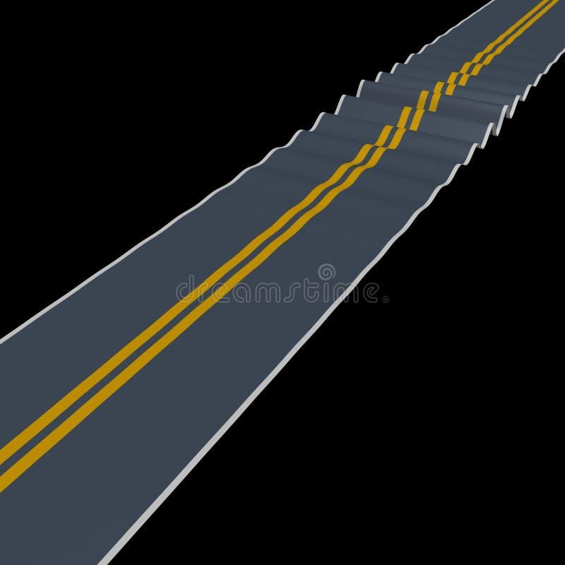 Rugged road vector illustration