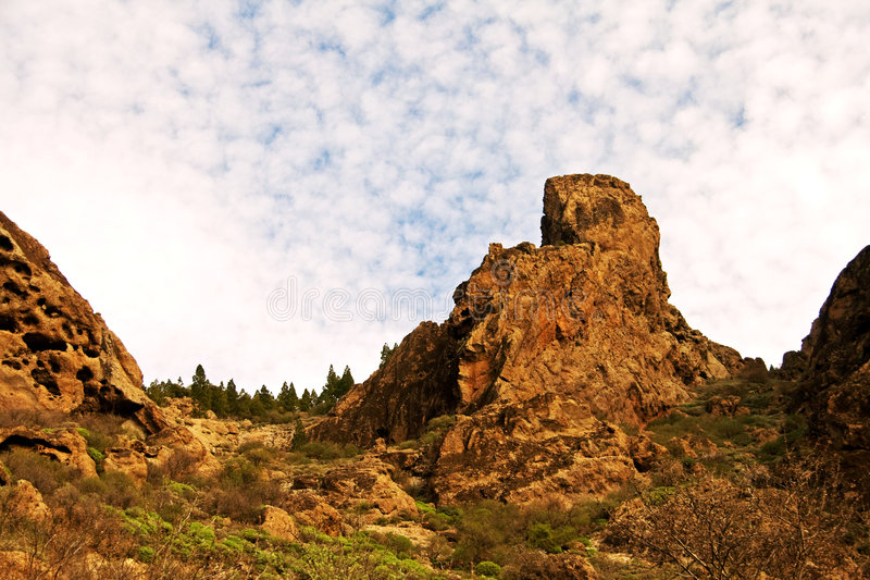 Rugged terrain of Gran Canaria royalty free stock images