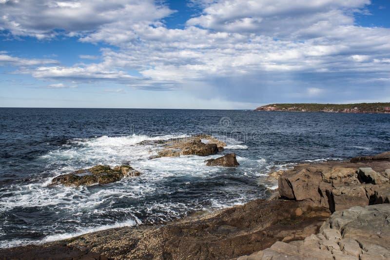 Ruggered海岸线南新南威尔斯澳大利亚 图库摄影