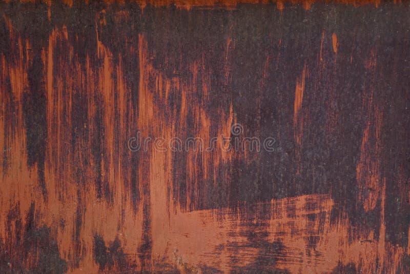 Ruggine del metallo e sporco sul piatto d'acciaio fotografia stock