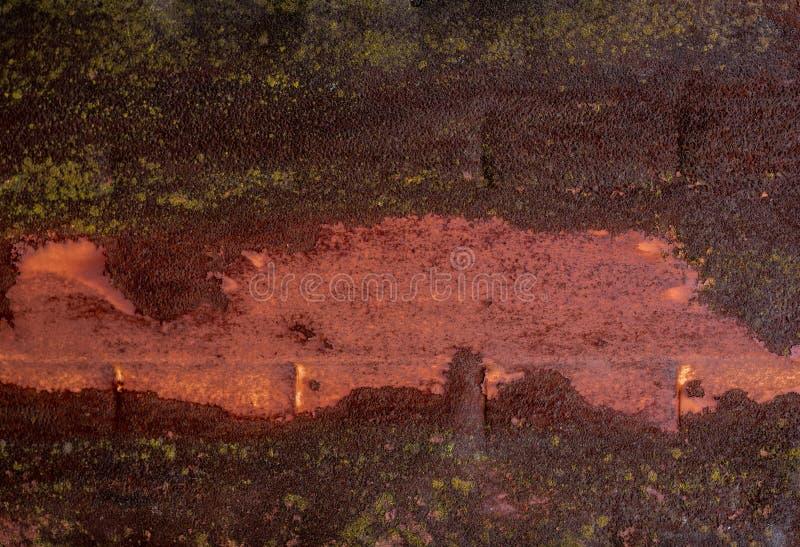 Ruggine della banda su metallo Lamine di metallo saldato fotografia stock libera da diritti