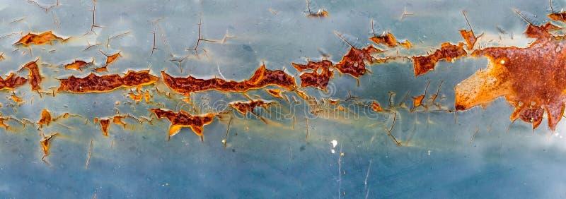 Ruggine di panorama ed erosione della superficie di metallo immagine stock libera da diritti