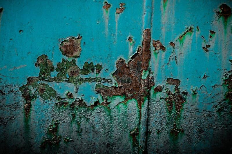 Ruggine ed elemento blu fotografia stock