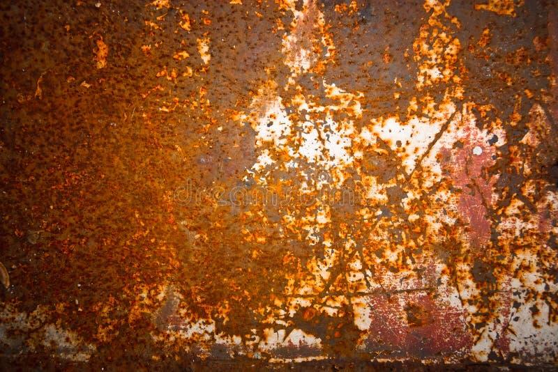 Ruggine sulla lamina di metallo, per fondo immagine stock