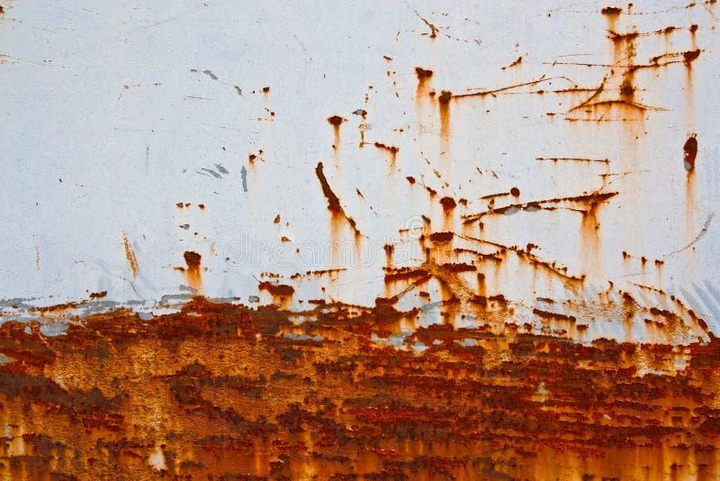Ruggine sulla lamina di metallo, per fondo fotografia stock