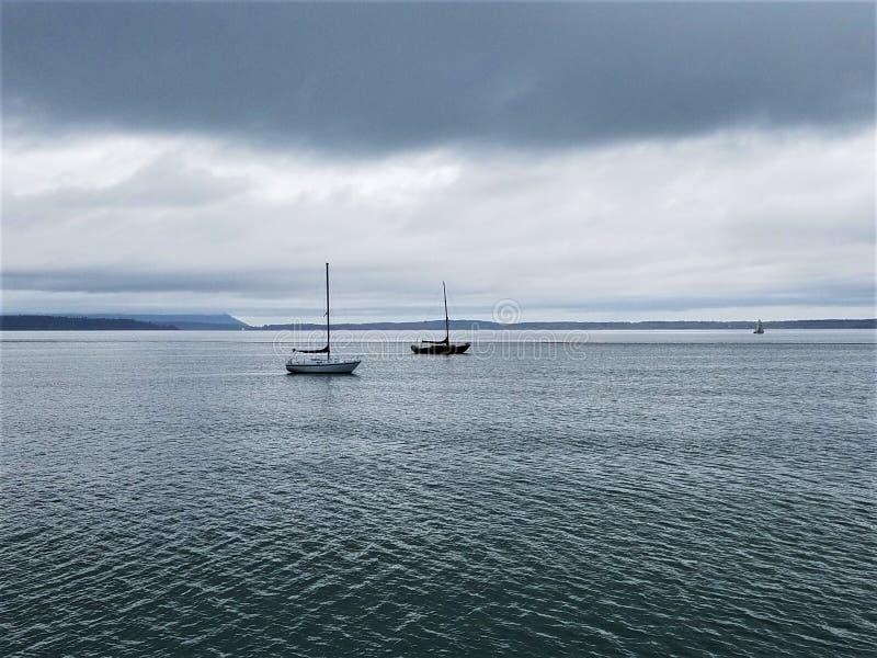 Ruhe auf Puget Sound lizenzfreie stockfotos