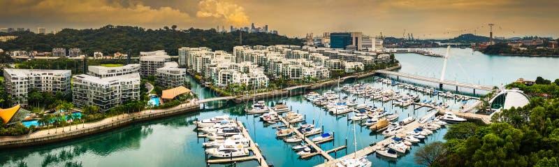 Ruhe in Keppel-Bucht, Singapur lizenzfreie stockfotos