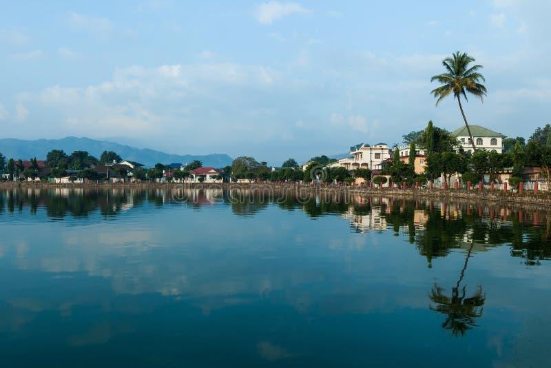 Ruhe und schöne Szene von Nong Tung See morgens stockfotos