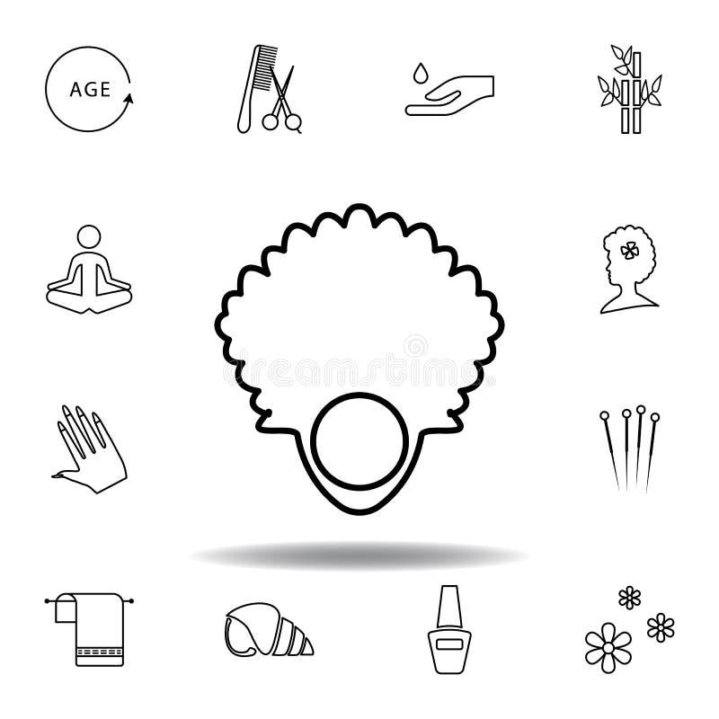 Ruheentwurfsikone Ausführlicher Satz des Badekurortes und Illustrationsikone sich entspannen Kann f?r Netz, Logo, mobiler App, UI vektor abbildung