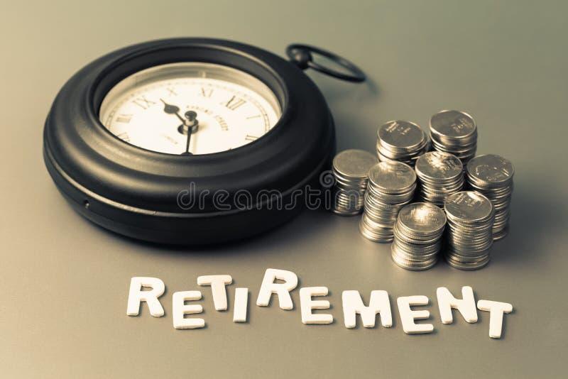 Ruhestands-Geld und Zeit lizenzfreies stockbild