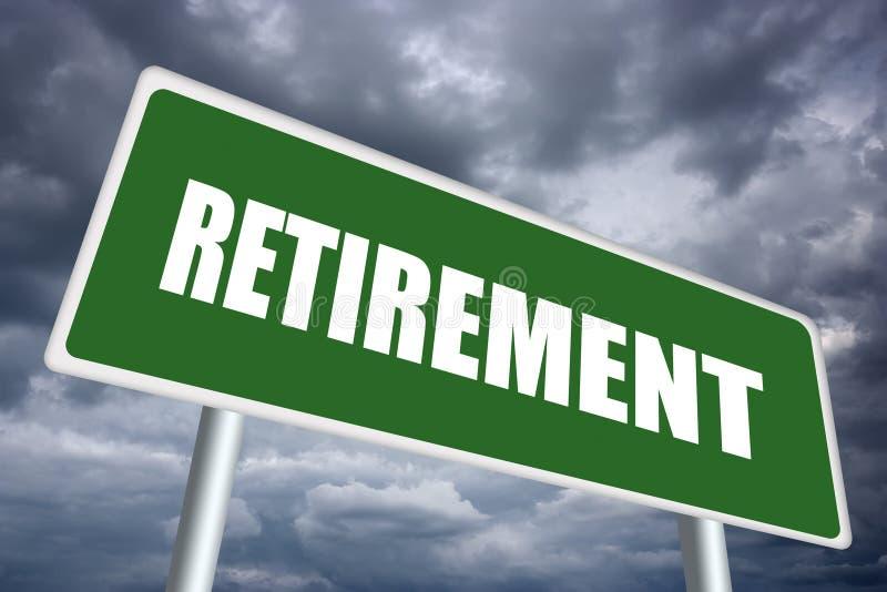 Ruhestandzeichen lizenzfreie abbildung