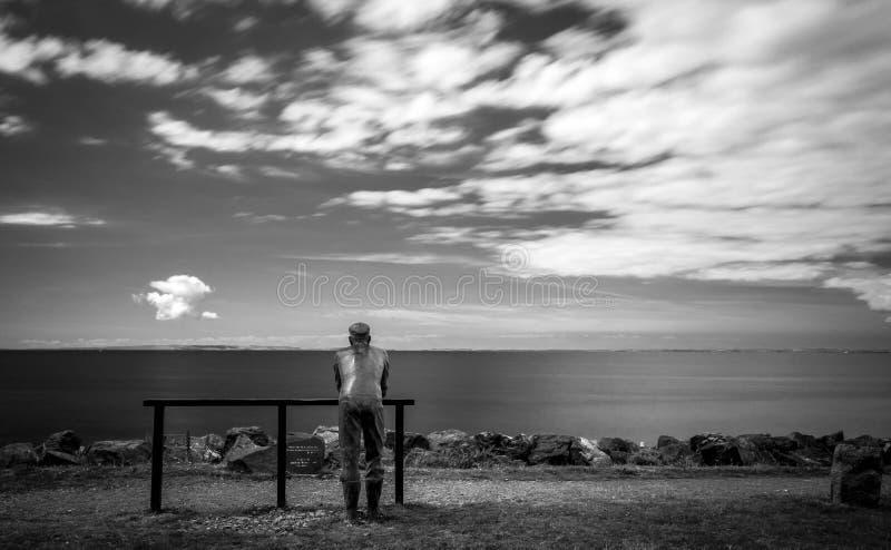 Ruhige Betrachtung, Schottland stockbilder