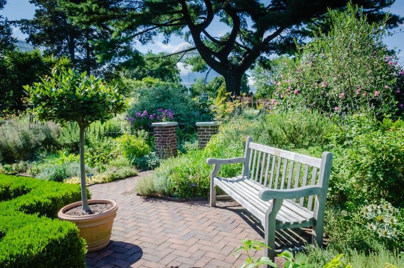Ruhige Ecke - botanischer Garten New York - New York City stockbild