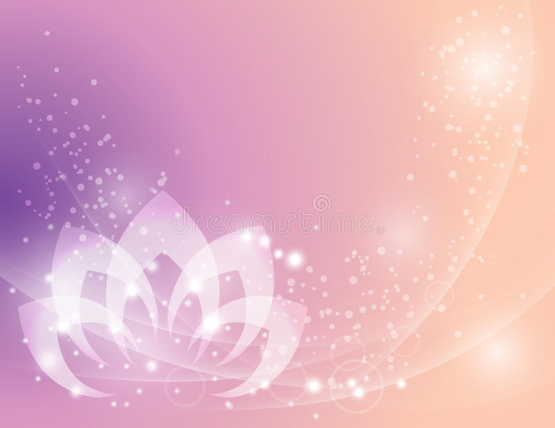 Ruhige Lotus Flower Background stock abbildung