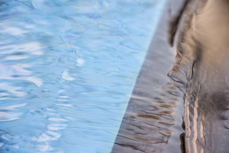 Ruhige Poolreflexion mit unvorhersehbarer Änderung, obgleich Sie bestimmte Schwankungen vorwegnehmen können Als die Wasser Kräuse lizenzfreie stockbilder