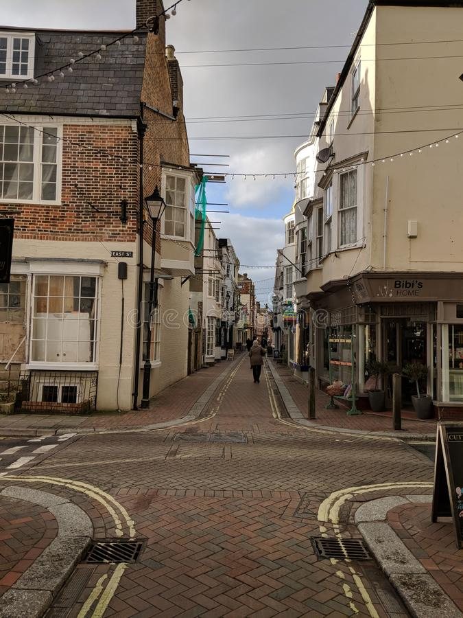 Ruhige Straße stockbild