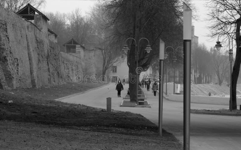 Ruhige Straßen von Novgorod lizenzfreies stockbild