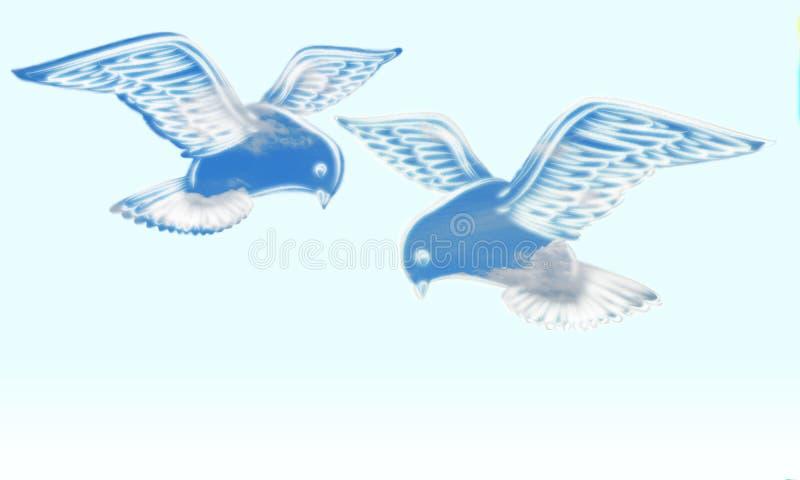 Ruhige Tauben lizenzfreie abbildung