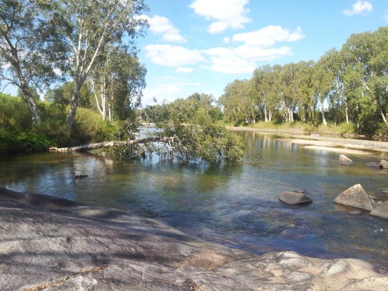 Ruhiger Fluss stockbilder