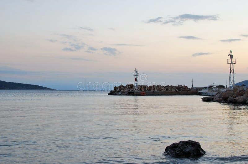 Ruhiger Morgen in dem Meer stockbild